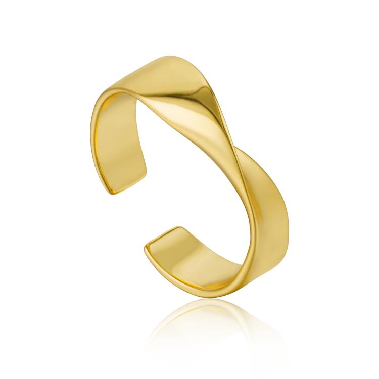 Ania Haie Helix Adjustable Ring R012-01G