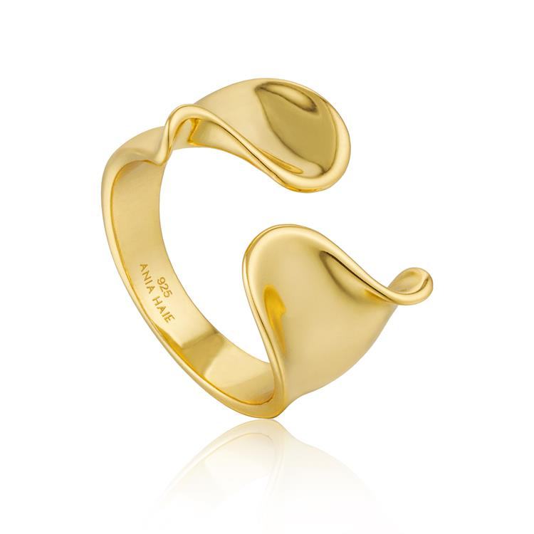 Ania Haie Twist Wide Adjustable Ring R012-03G