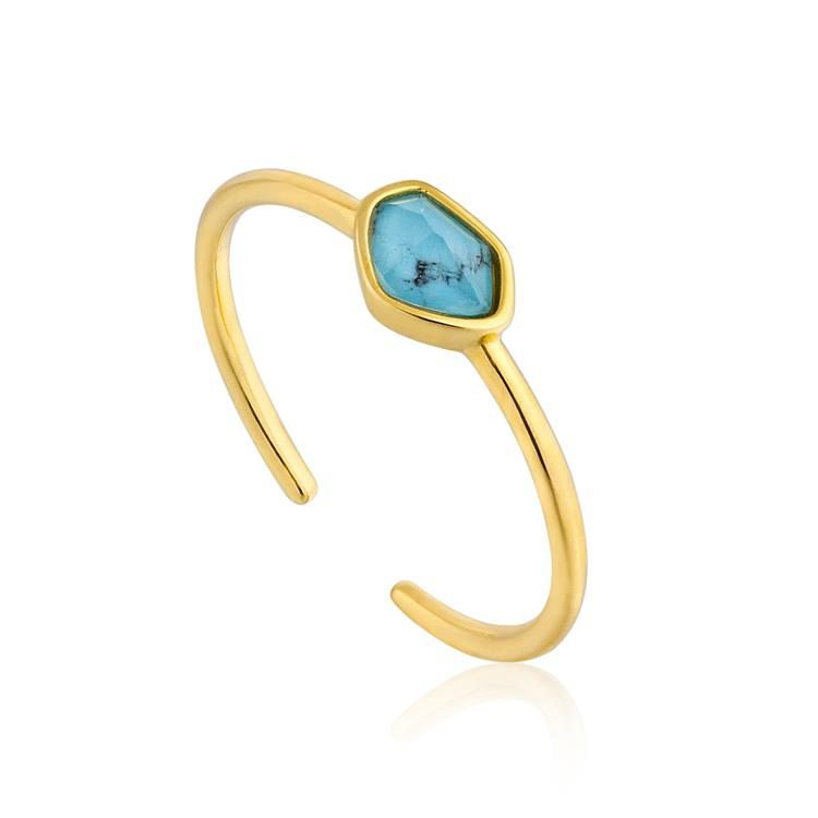 Ania Haie Turquoise Adjustable Ring R014-01G
