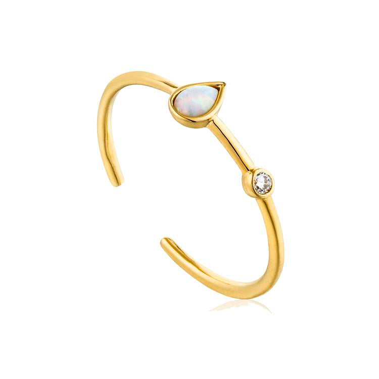 Ania Haie Opal Raindrop Adjustable Ring R014-02G