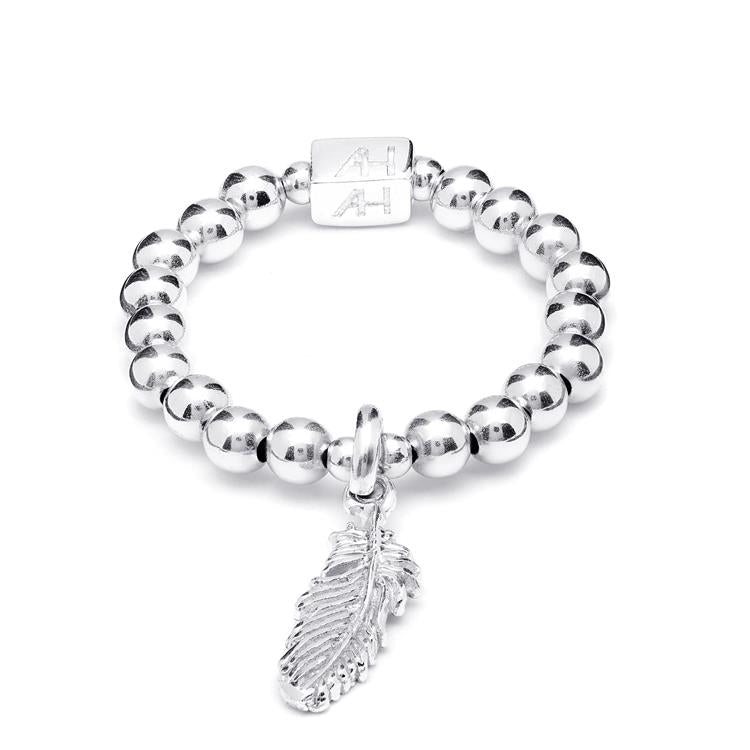 Annie Haak Mini Charm Silver Ring Feather
