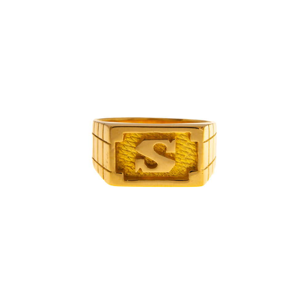 Pre-Owned 22ct Gold S Initial Ring