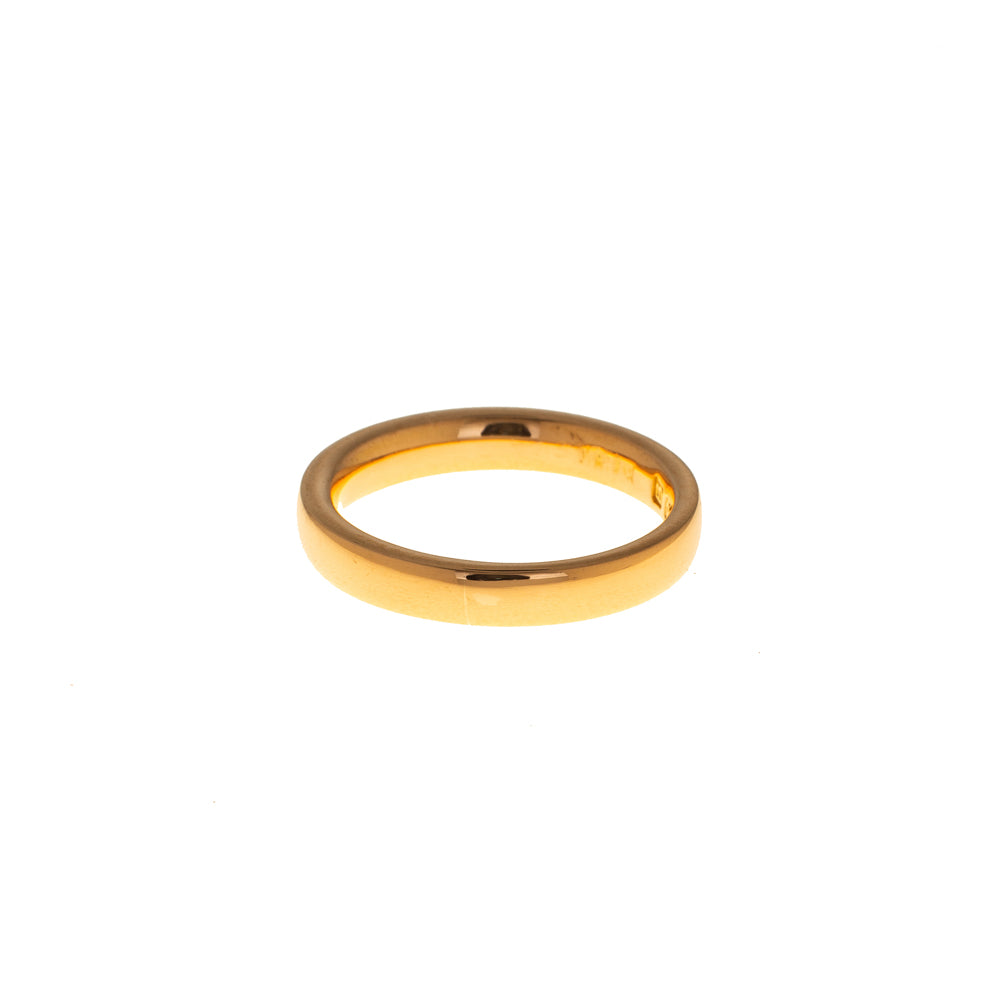 Pre-Owned 22ct Gold 3mm Curved Wedding Band
