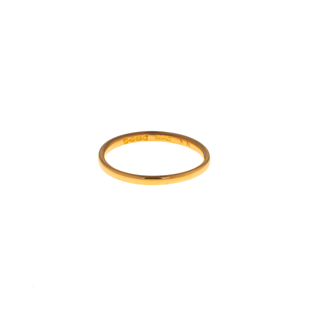 Pre-Owned 22ct Gold 2mm Wedding Band