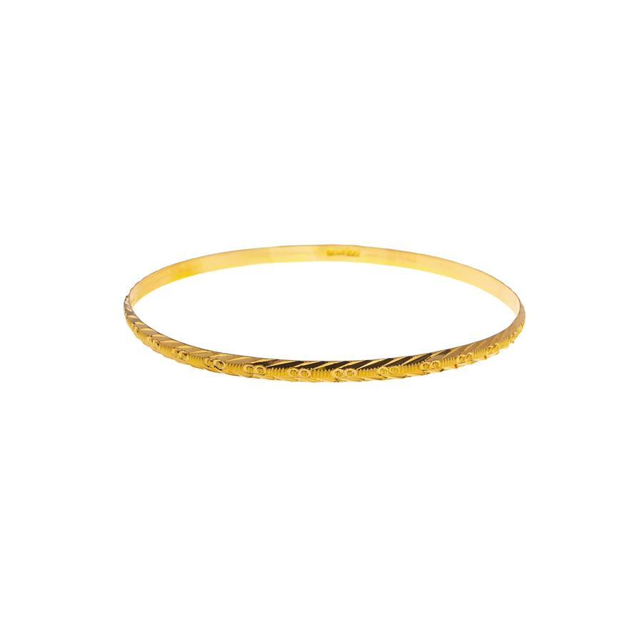Pre-Owned 22ct Gold Infinite Pattern 4mm Bangle