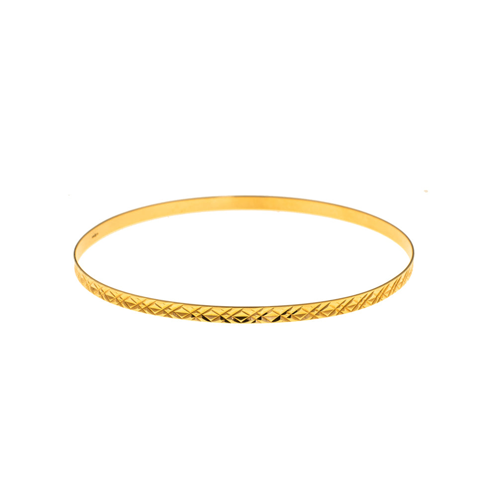 Pre-Owned 9ct Gold 3mm Pattern Love Bangle