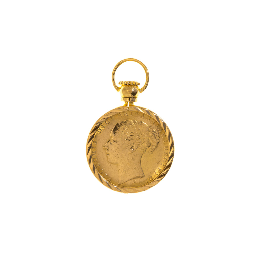 Pre-Owned 1884 Full Sovereign 22ct Gold Pendant