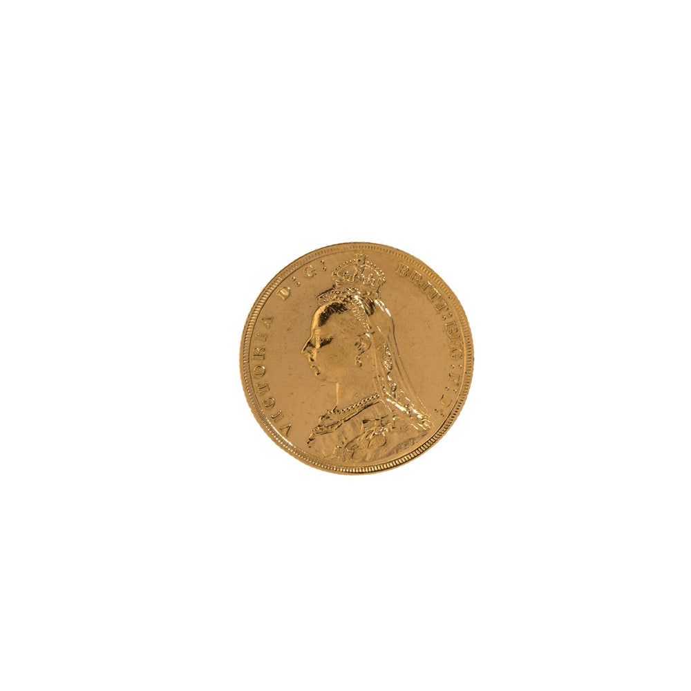 Pre-Owned 1889 Full Sovereign Coin