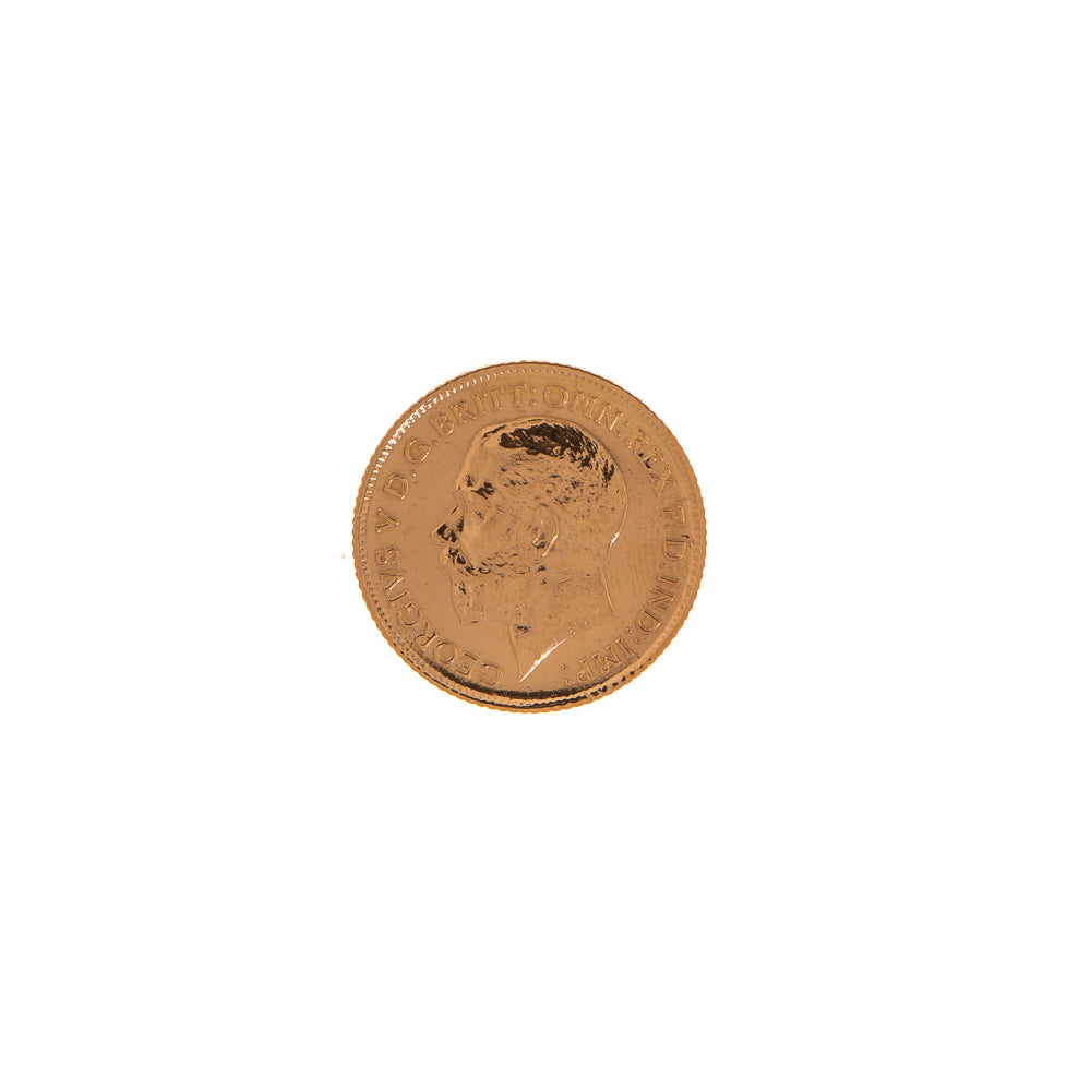 Pre-Owned 22ct Gold 1915 Half Sovereign Coin