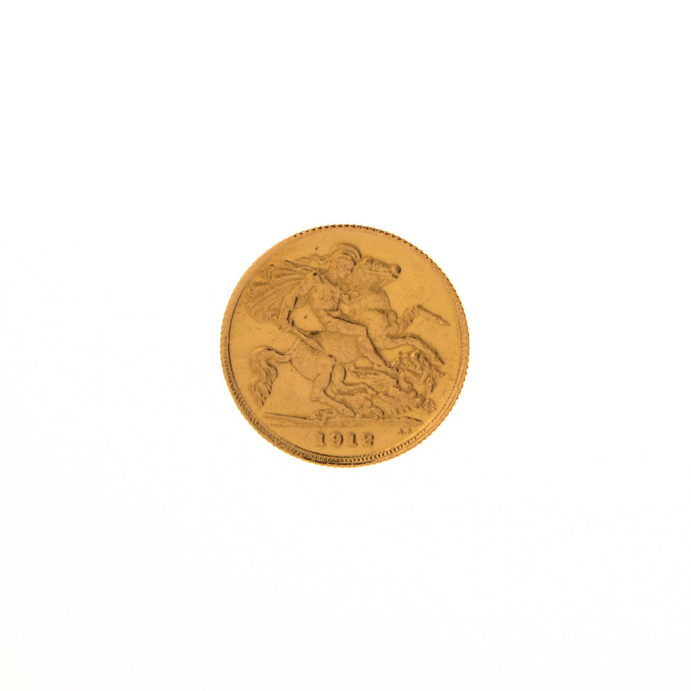 Pre-Owned 1912 Half Sovereign Coin