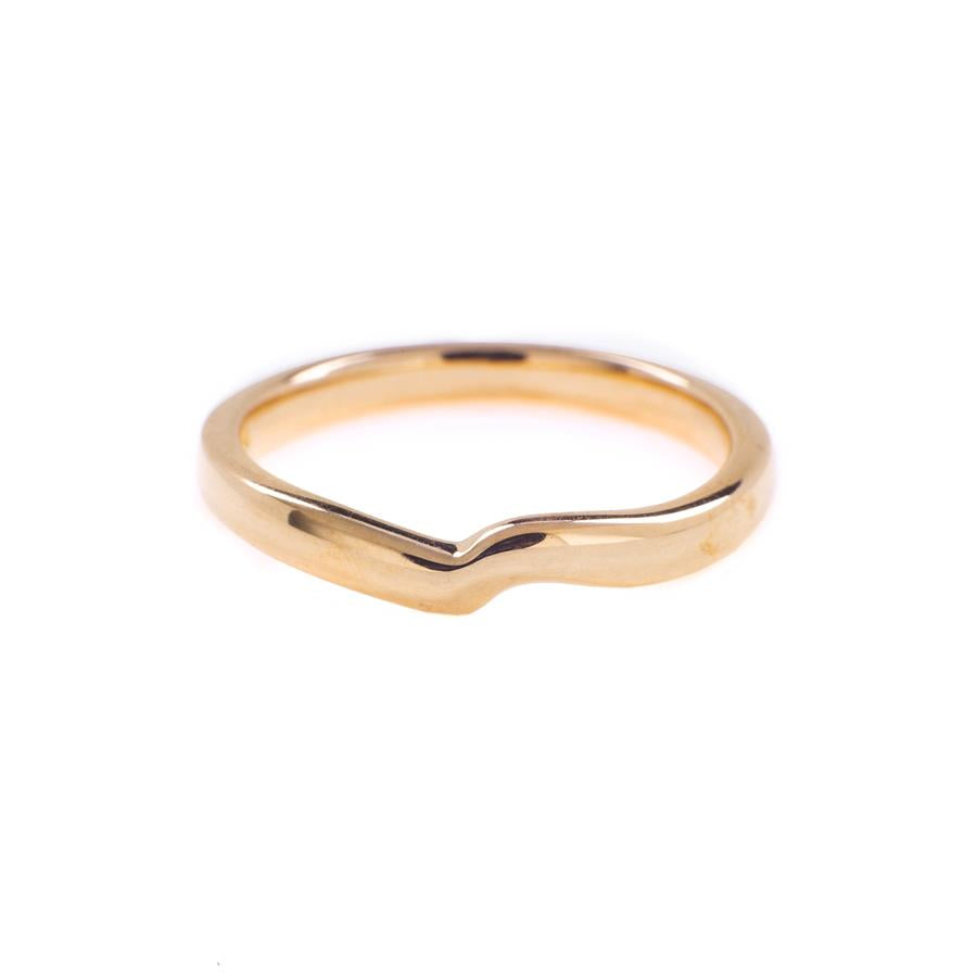 Pre-Owned 18ct Rose Gold Peak Band