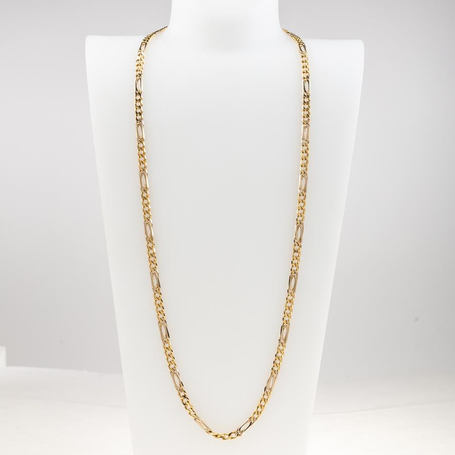 "Pre-Owned 18ct Gold 24"" Figaro Necklace"