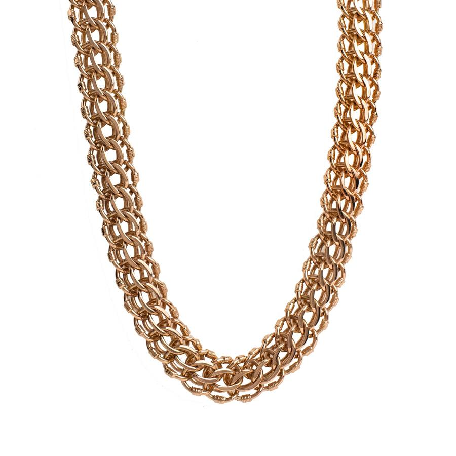 "Pre-Owned 14ct Gold 22"" Fancy Triple Curb Necklace"