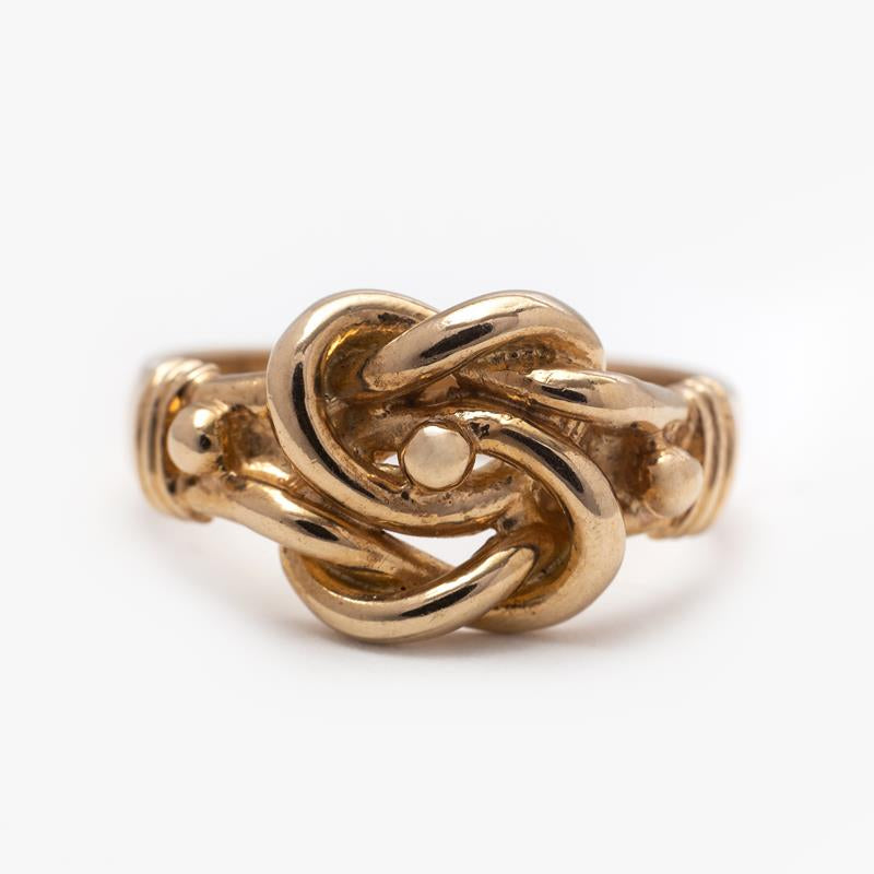 Pre-Owned Men 9ct Yellow Gold Knot Ring