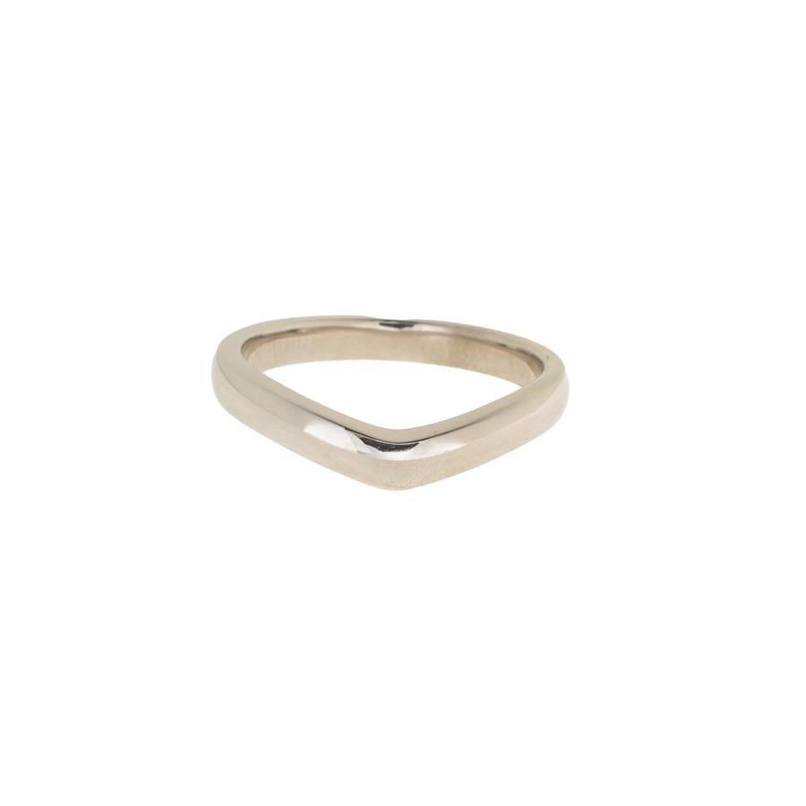 Pre-Owned 9ct White Gold Wishbone Ring