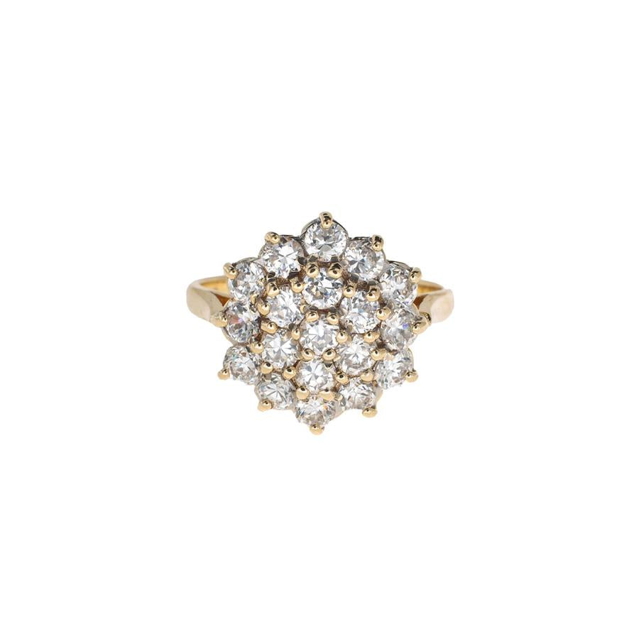Pre-Owned 9ct Gold 19 Cubic Zirconia Cluster Ring