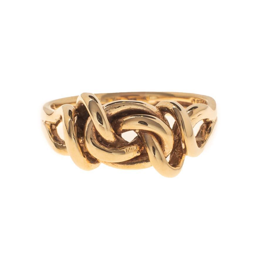 Pre-Owned 9ct Gold Fancy Knot Split-Shank Ring