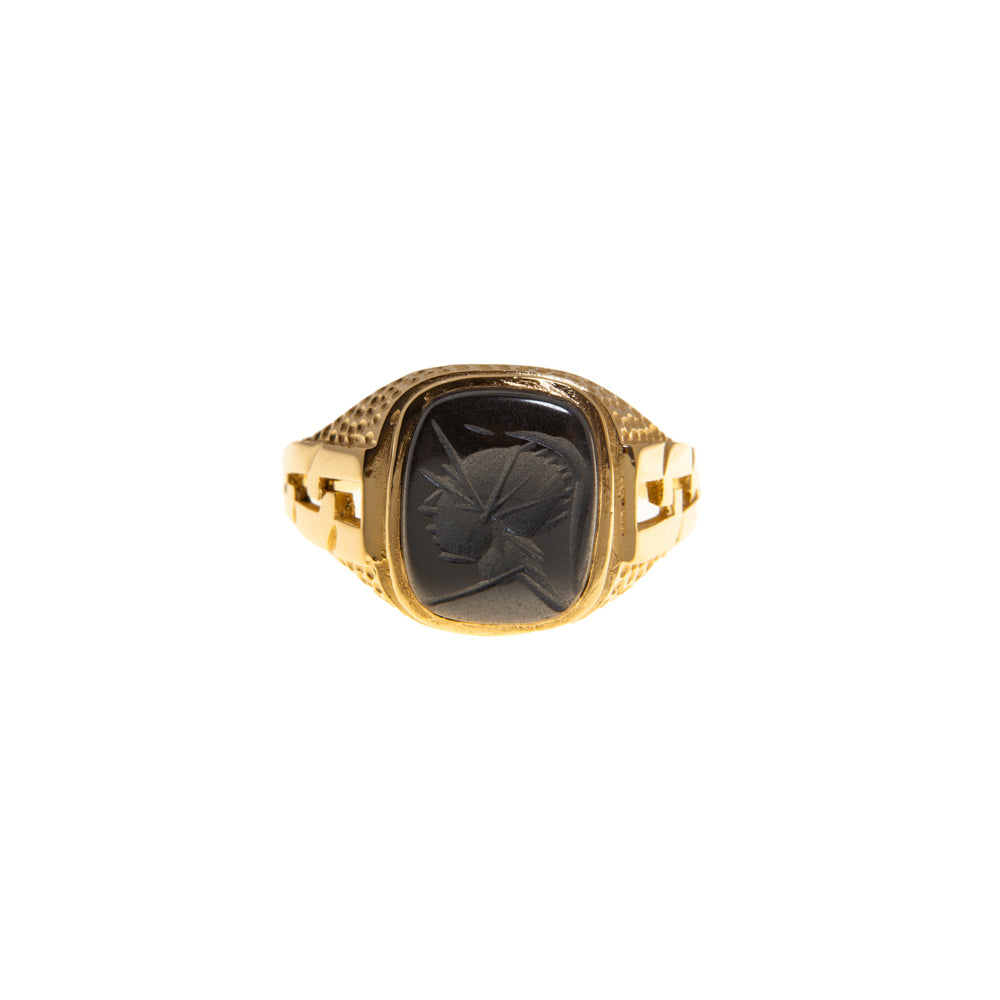 Pre-Owned 9ct Gold Hematite Intaglio Signet Ring