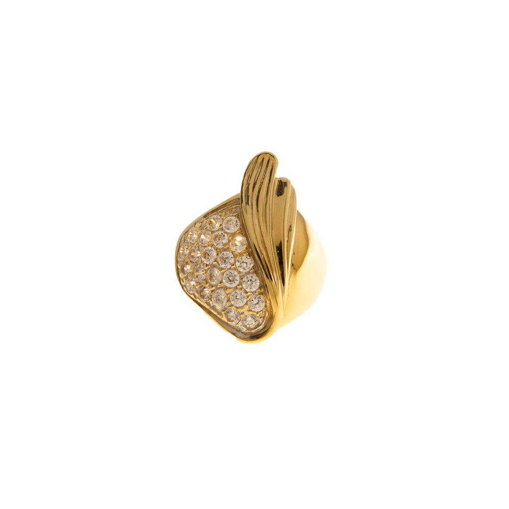 Pre-Owned Gold Abstract Cubic Zirconia Dress Ring