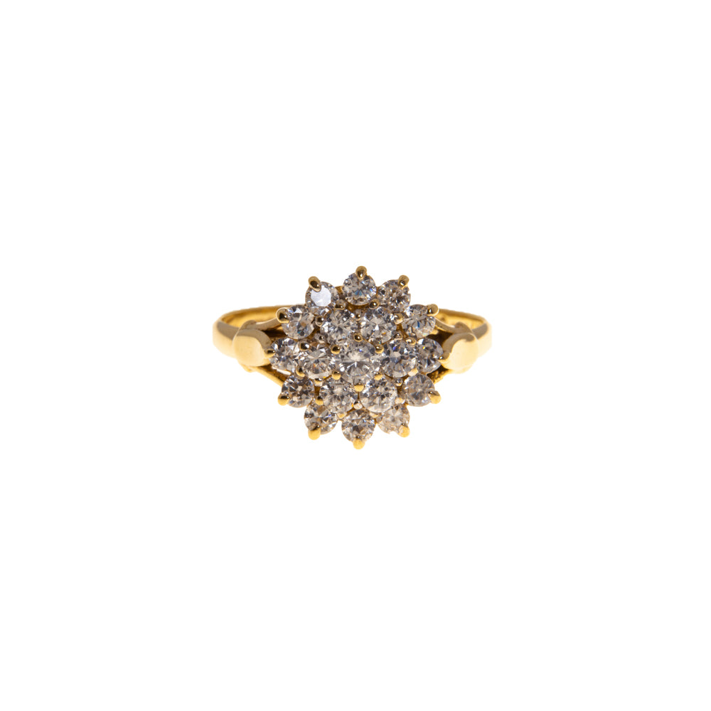 Pre-Owned Gold 19 Cubic Zirconia Star Cluster Ring