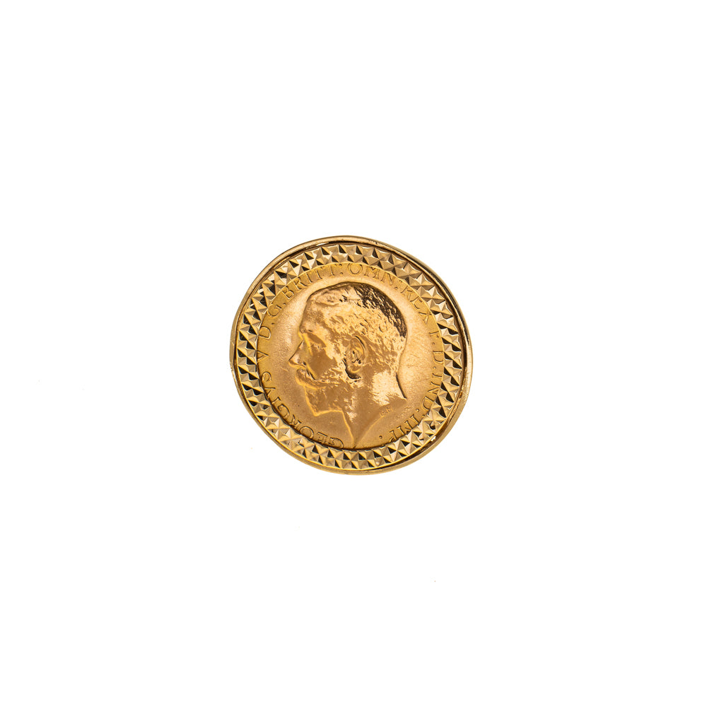 Pre-Owned 1914 Half Sovereign 9ct Gold Ring