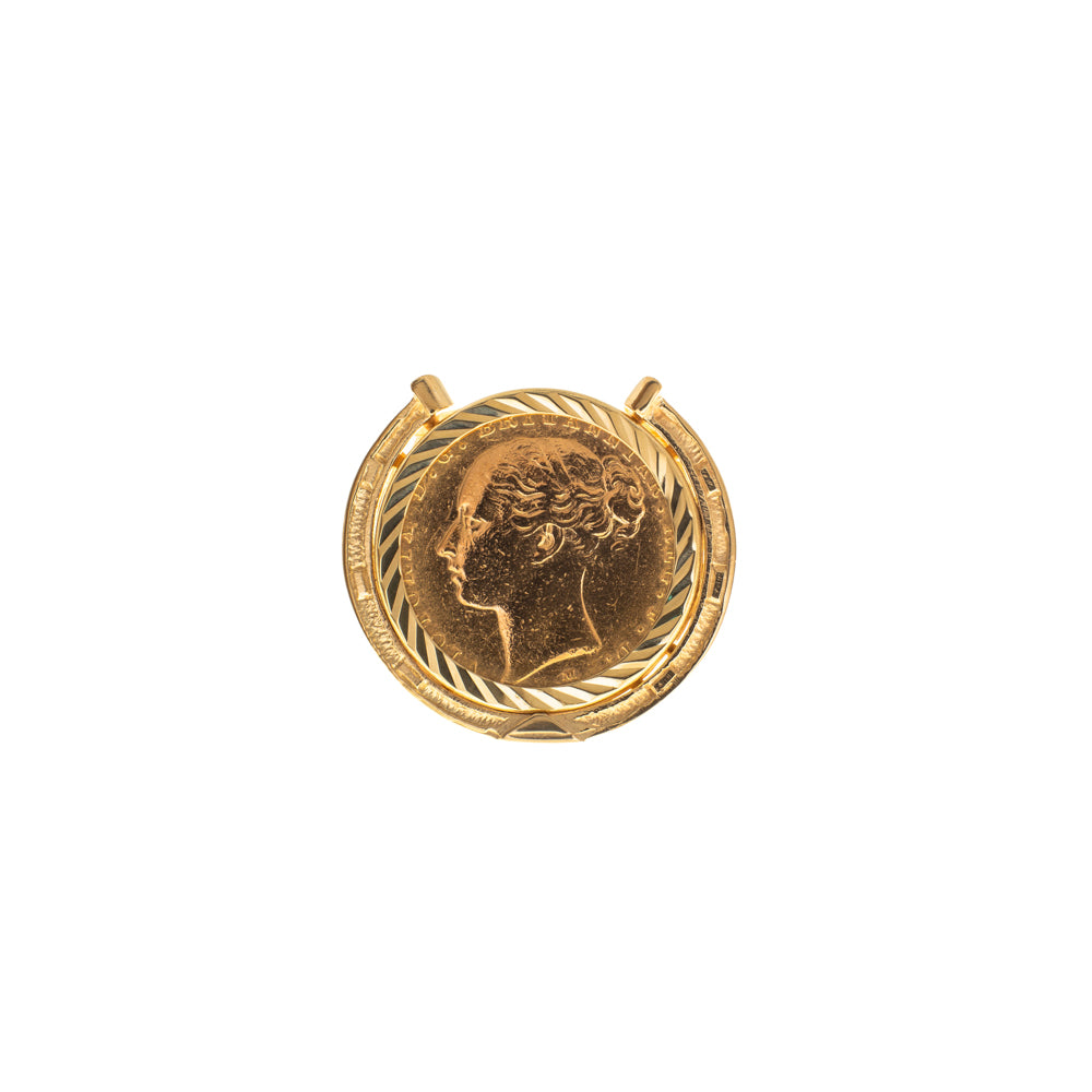 Pre-Owned 1883 Full Sovereign 9ct Gold Ring