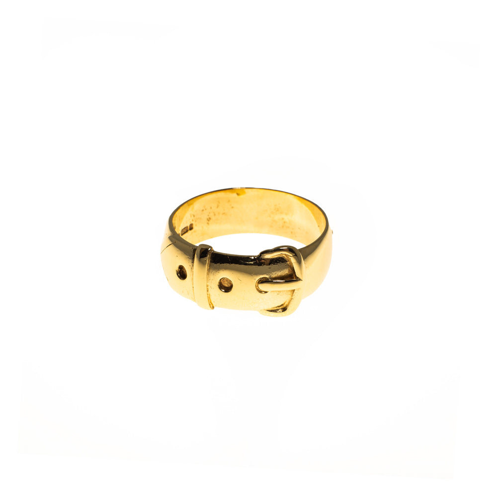 Pre-Owned 9ct Gold 11mm Buckle Ring