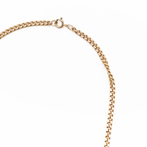 "Pre-Owned 9ct 22"" Yellow Gold Curb Chain Necklace"