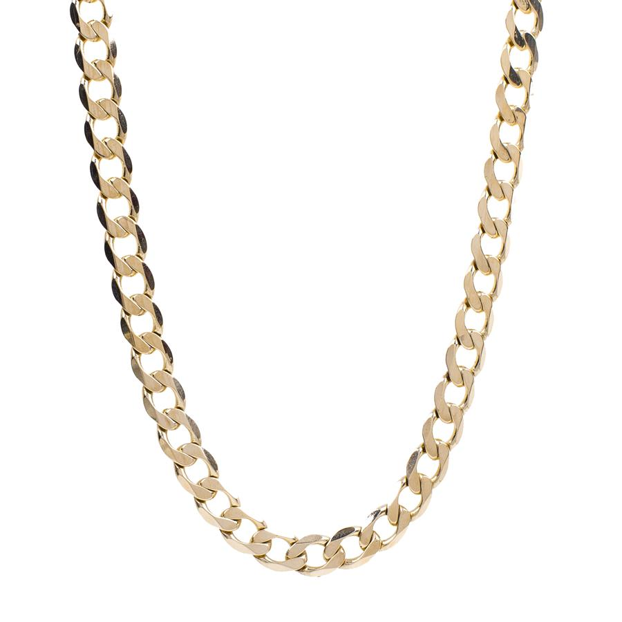 "Pre-Owned 9ct Gold 22"" Flat Wide Curb Necklace"