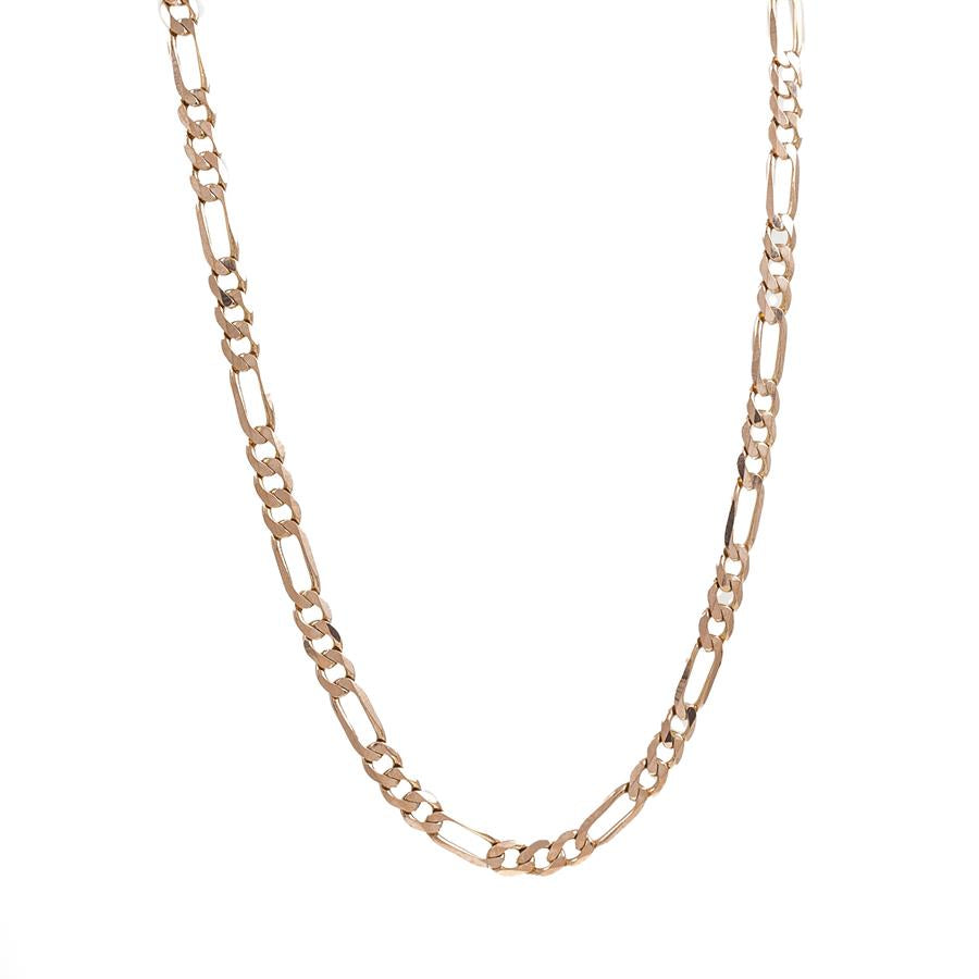 "Pre-Owned 9ct Gold 16"" Figaro Necklace"
