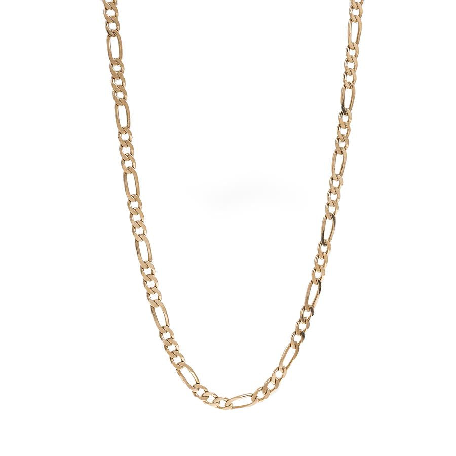 "Pre-Owned 9ct Gold 24"" Figaro Necklace"