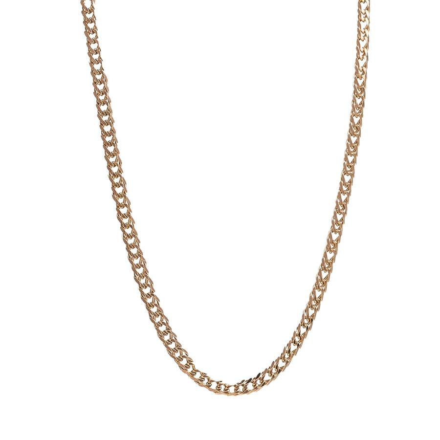 "Pre-Owned 9ct Gold 18"" Double Oval Curb Necklace"