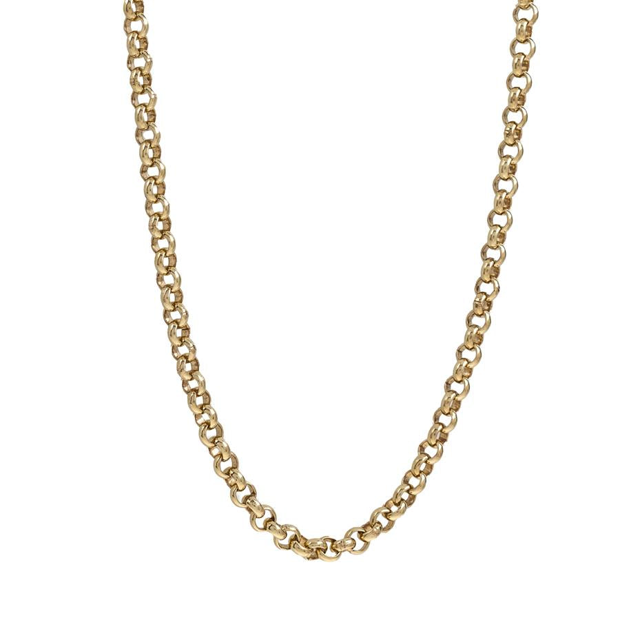 "Pre-Owned 9ct Gold 20"" Round Belcher Necklace"
