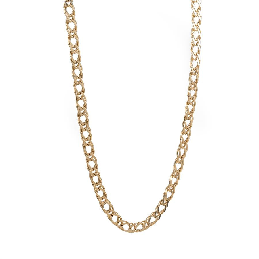 "Pre-Owned 9ct Gold 18"" Double Curb Necklace"
