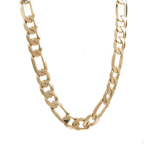 "Pre-Owned 9ct Gold 18"" Figaro Necklace"
