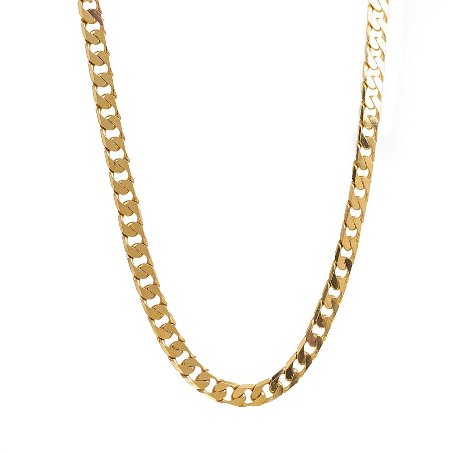 "Pre-Owned 9ct Gold 18"" Curb Necklace"