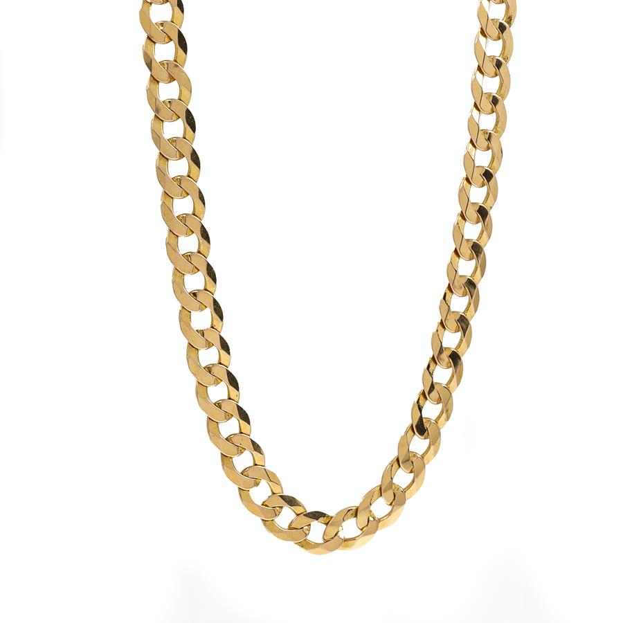 "Pre-Owned 9ct Gold 22"" Curb Link Necklace"