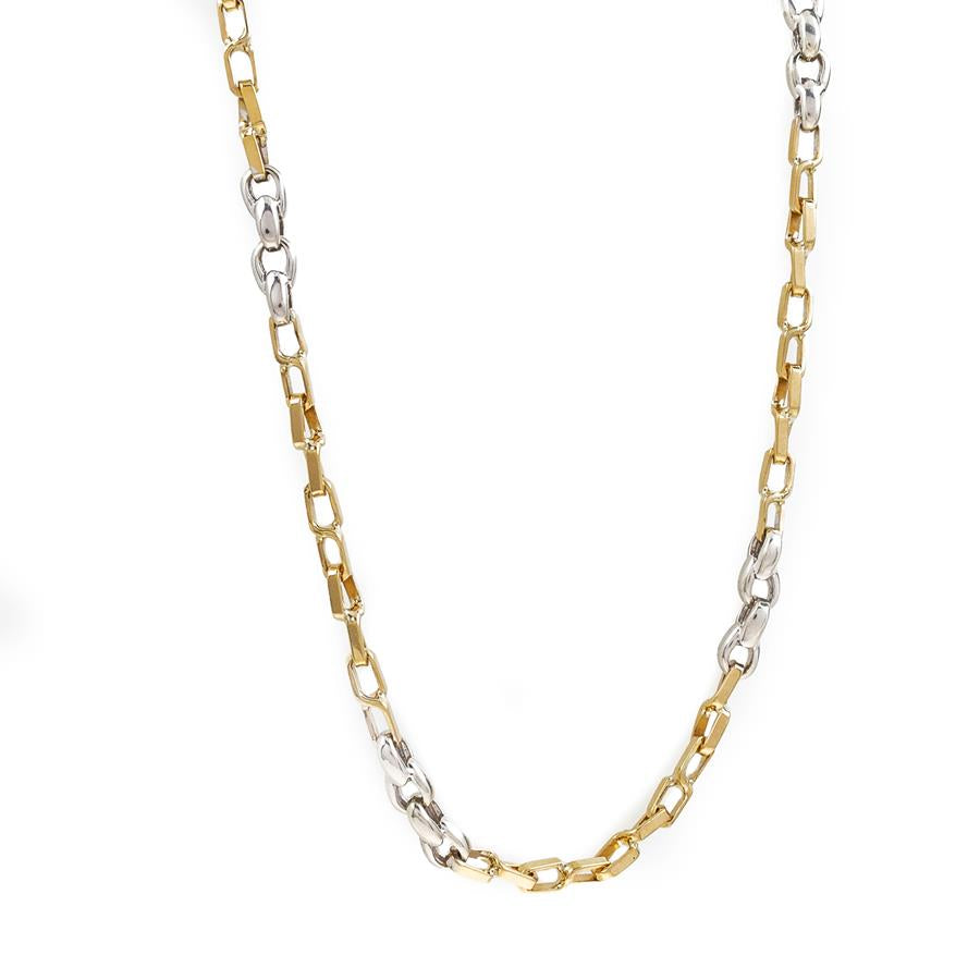 "Pre-Owned 9ct Gold 18"" Two Tone Figure 8 Necklace"