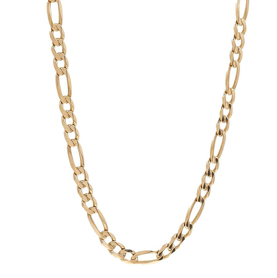 "Pre-Owned 9ct Gold 20"" Figaro Necklace"