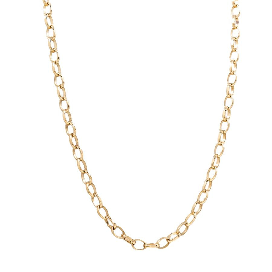 "Pre-Owned 9ct Gold 16"" Oval Belcher Link Necklace"