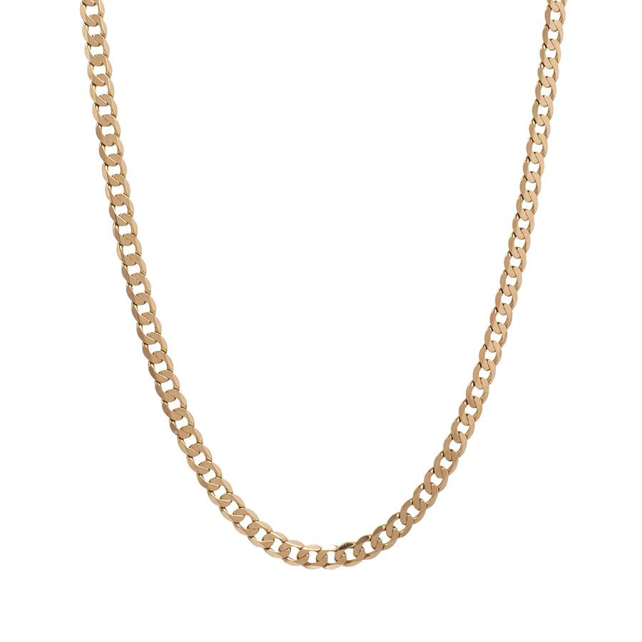"Pre-Owned 9ct Gold 20"" Flat Round Curb Necklace"