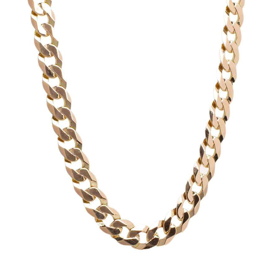 "Pre-Owned 9ct Gold 20"" Thick Round Curb Necklace"