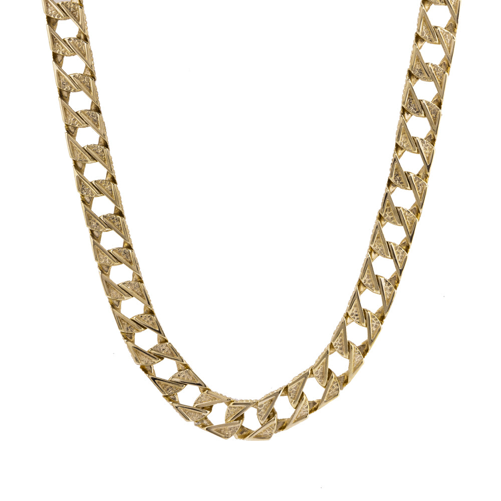 "Pre-Owned Gold 24"" Flat Square 11mm Curb Necklace"