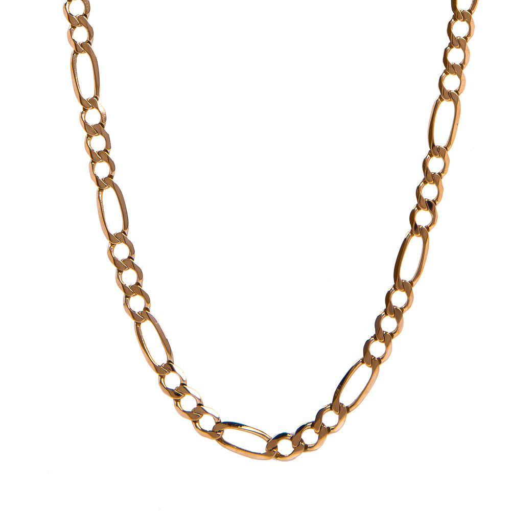 Pre-Owned 5mm Figaro Chain Gold Necklace Women