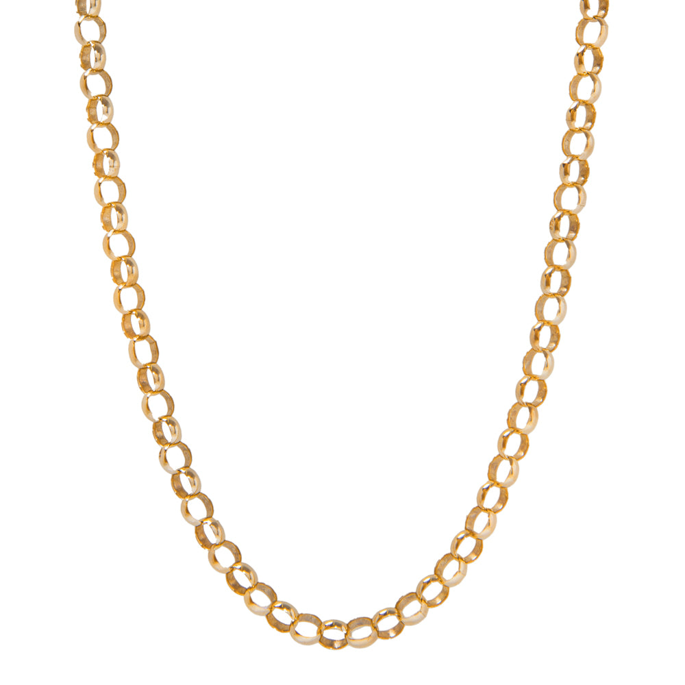 "Pre-Owned Gold 20"" Round Belcher Chain Necklace"
