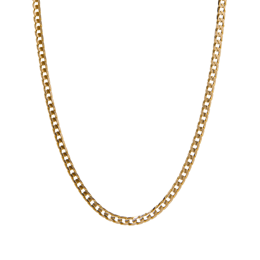 "Pre-Owned 9ct Gold 18"" Flat Oval Curb Necklace"