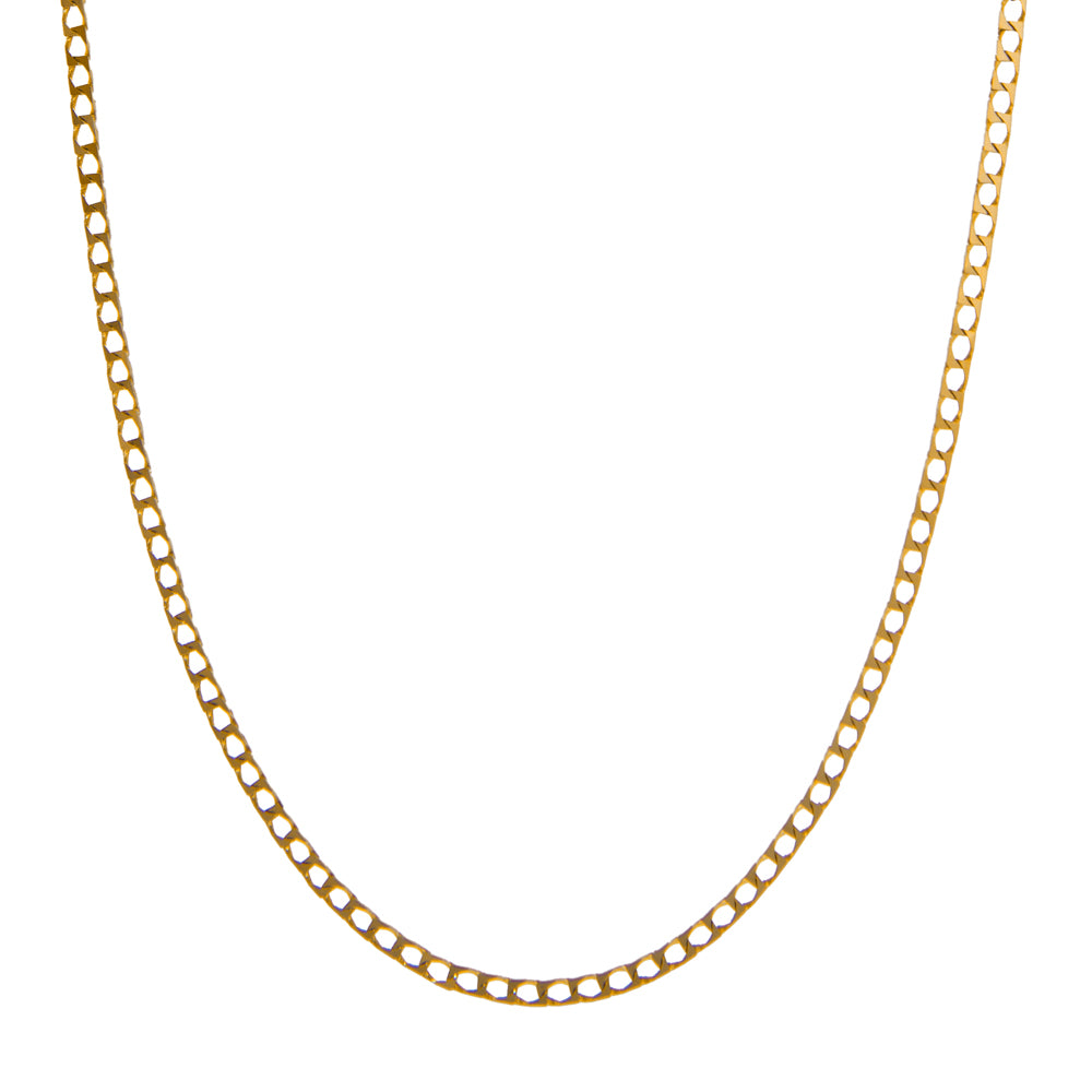 "Pre-Owned 9ct Gold 20"" Flat Squared Curb Necklace"
