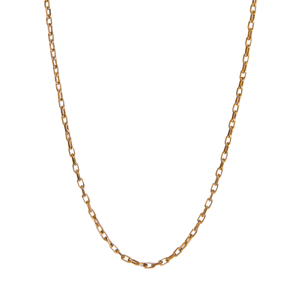 "Pre-Owned 9ct Gold 24"" Hollow Trace Necklace"