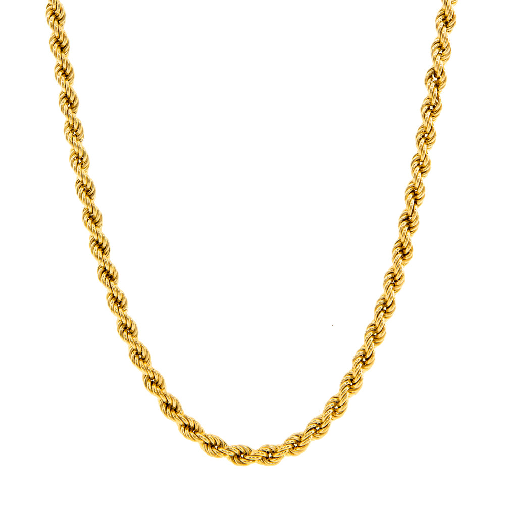 "Pre-Owned 9ct Gold 26"" 4mm Rope Necklace"