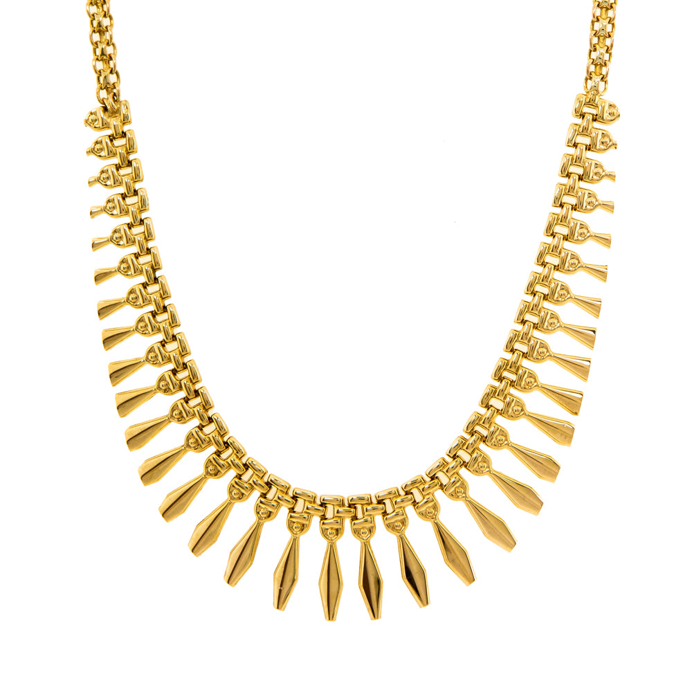 "Pre-Owned 9ct Gold 18"" Cleopatra Style Necklace"